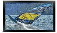 Windsurfer close up, Framed Print