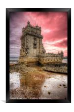Torre de Belem Lisbon, Framed Print