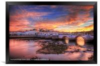 Sunset at Tavira Portugal, Framed Print