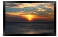 Wonderful Welsh Sunset, Framed Print