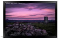 Purple Skies, Framed Print
