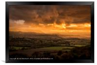 The Wye Valley, Framed Print