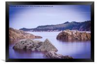 Rocks Saundersfoot, Framed Print