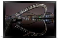 The Millenium Bridge, Newcastle, Framed Print