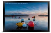 Buoys at Loe Beach, Framed Print