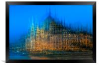 Impression of the Parliament Buildings, Budapest, Framed Print