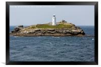 godrevy lighthouse, Framed Print