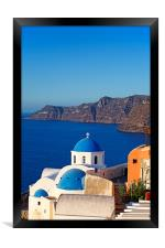Santorini, Greece, Framed Print