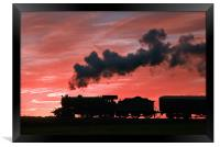 Steam Sunset Silhouette, Framed Print
