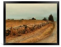 Rambling fenceline, Framed Print