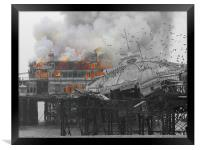 West Pier Fire, Framed Print