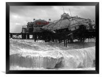 West Pier collapse, Framed Print