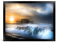 Solstice storm, Framed Print