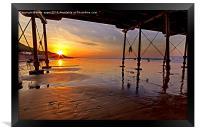 Saltburn Pier Sunset, Framed Print