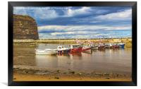 Boats In Staithes Harbour, Framed Print