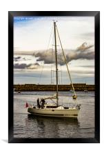 Yacht Whitby Harbour, Framed Print