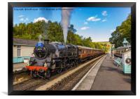 Leaving Grosmont Station, Framed Print