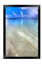 Crystal Water of the Ocean, Framed Print