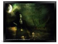 Love Moonlight Song of Vampiress, Framed Print