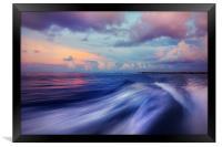 Sunset Wave. Maldives. Impressionism, Framed Print
