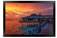 Fireworks of Colors. Maldives , Framed Print