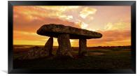 Lanyon quoit, Framed Print