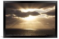 Sunrise over the Atlantic Ocean, Framed Print