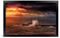 Poseidons Wrath, Framed Print