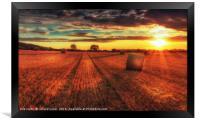 Farmers work, Framed Print