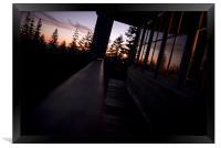 sitting on the rail, Framed Print