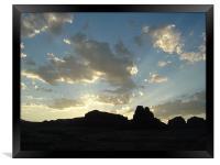 Glen Canyon, Utah, Desert Sunrise, Framed Print
