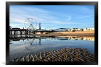 Golden Light On Blackpool, Framed Print