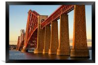 Fourth Railway Bridge at Sunset, Framed Print