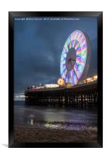 Big Wheel Blackpool, Framed Print