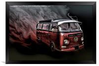 Classic VW camper, Framed Print