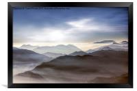 Misty mountains                        , Framed Print