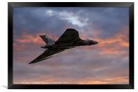 Avro Vulcan Delta Winged Bomber, Framed Print