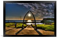 Whale Jaw Bone Arch- Whitby, Framed Print