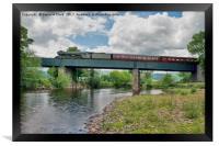 Flying Scotsman over the River Usk, Framed Print