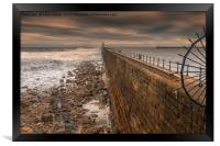 Tynemouth Harbour, Northumberland, Framed Print