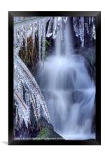 Waterfall and Ice, Framed Print