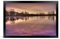 Winter Sunset Color, Framed Print