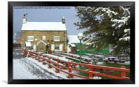Barley Mow pub at Wingerworth, Framed Print
