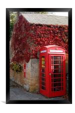 Red Telephone Box in Nottinghamshire, Framed Print