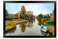 Edam Waterway In Autumn , Framed Print