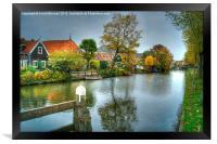 Dutch Waterway In Autumn, Framed Print