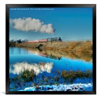 Winter Reflections at Butterley, Framed Print