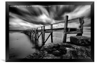 Historic Pier at Culross, Framed Print