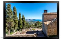 View from the Puig de Maria, Framed Print