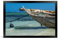 Zanzibar Dhow, Framed Print